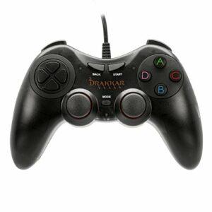 Konix Drakkar Manette Battle Axe – Manette PC – Manette pour PC Joystick Texture Gomme – Manette USB Gamer – Manette Design Ergonomique