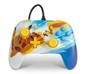 Manette filaire améliorée PowerA pour Nintendo Switch – Pikachu Charge, manette de jeu, manette de jeu vidéo filaire, manette de jeu