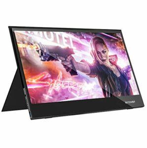 Blitzwolf BW-PCM5 Écran tactile UHD 4 K Type C Portable Gaming Display pour Smartphone, Tablette, Ordinateur Portable, Consoles de Jeux