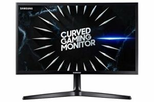 Samsung C24RG52 – Moniteur incurvé Gaming 24″ Full HD (1920×1080, 4ms, 144 Hz, FreeSync, Flicker-Free, LED, VA, 16:9, 3000:1, 1800R, 250 CD/m2, 178°, HDMI, Base en V) Noir