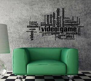 Sticker mural avec phrase stimulante pour jeu vidéo et manette d'ordinateur 55,9 cm