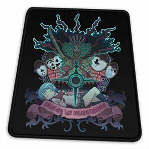 Yuanmeiju Anti Slip Gaming Tapis de Souris,Stitched Edge Mousepad,Rubber Base,Mice Pad for Office Home,30X25Cm,Computer Pc Mousemat,Madoka Magica Miki Sayaka