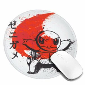 Yuanmeiju Tapis de Souris Rond Red Sun Water Customized Designs Non Slip Rubber Base Gaming Mouse Pads for Mac,7.9×7.9 in Pc, Computers. Ideal for Working Or Game