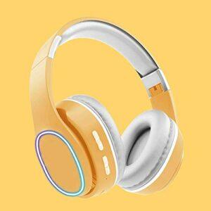 Écouteurs sans fil haut de gamme, Lumière RGB, Casques de jeu stéréo surround surround de 3,5 mm avec oreillettes de mémoire molle micro pour PC, ordinateur portable, jeu vidéo avec microphone flexibl