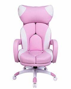 Fille Webcast Game Chair Computer Live Stream Chaise Confortable de Jeu vidéo Cute Pink-Rose