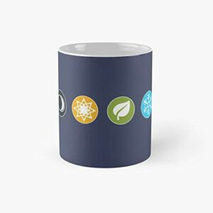 Gloomhaven Element Symbols Board Game Graphic – Tabletop Gaming Classic Mug Best Gift Funny Coffee Mugs 11 Oz