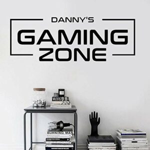 Personalised Gaming Decal, Vinyl Sticker, Gamer Lover Gift For Boy Bedroom -160X57Cm