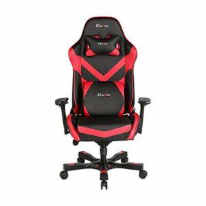Clutch Chairz – Chaise de jeu ergonomique, chaise de jeu vidéo, chaise de bureau, chaise haute et coussin lombaire pour bureau d'ordinateur – Noir/rouge – Série d'accélérateur.