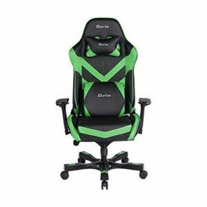 Clutch Chairz – Chaise de jeu ergonomique, chaise de jeu vidéo, chaise de bureau, chaise haute et coussin lombaire pour bureau d'ordinateur – Noir/vert – Série d'accélérateur.