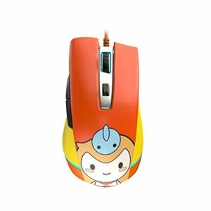 DYecHenG Souris 6 Niveau DPI Réglage Filaire Gaming Mouse Conception antidérapante pour Le Bureau et la Maison (Couleur : Orange, Size : One Size)