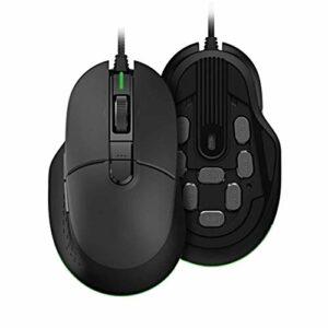 DYecHenG Souris Éclairage coloré Filaire Gaming Mouse 32bit 6 Boutons Ergonomique for Ordinateur Portable PC Gamer Souris d'ordinateur pour Le Bureau et la Maison (Couleur : Black, Size : One Size)