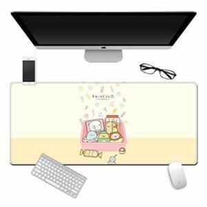 grand tapis de souris gamer Tapis de souris Gamer 700x300x3mm Boîte de bonbons mignon tapis de clavier pour bureau base en caoutchouc antidérapant résistant à l'eau, bord cousu, pour jeux vidéos ou tr