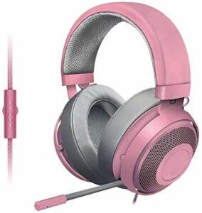 Hancoc 3,5 Mm Casque Filaire Gaming Headset, en Aluminium Léger Bruit Frame-rétractable Microphone Cancelling, Casque Audio De Jeu Et Vidéo Professionnels