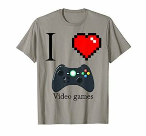 I Love Video games Gamer Gaming Joystick Game Controller T-Shirt