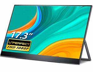 Moniteur Portable, UPERFECT Moniteur PC Ecran USB C1920X1080 IPS Ecran PC 17.3″ FHD Gaming avec connecteur HDMI/Type-C pour, Xbox, PS4, etc