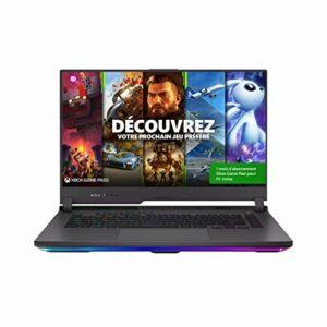ASUS ROG G513QR-HF010T PC Portable Gaming 15-15.9 FHD (AMD Ryzen R7-5800H, RAM 16G DDR4, 1TB Gen 3.0 SSD, RTX 3070 – 8GB GDDR6, Windows 10) Clavier AZERTY Français