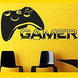 HNSYZS Design Moderne Gamer Décalcomanie Gamer 墙 贴 Dec Nom Décalcomanie Affiche Décor À La Maison Vinyle Amovible Mur Autocollant 85X39Cm
