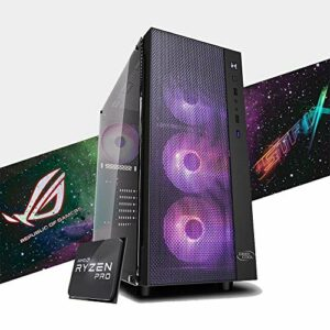 MAK ADVANCED PC Gaming Desktop RYZEN 5 3600, Gtx 1650 4 Go Strix, SSD Nvme 250 Go + Disque dur 2 To, RAM 8 Go 3200 MHz, ordinateur de gaming, Windows 10 Pro