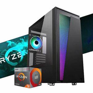 Mak Office I Plus 2.0 Ordinateur de bureau RYZEN 3 4350G 4,00 GHz, SSD NVME 250 Go + HDD 1 To, RAM 16 Go 3200 MHz, Wi-Fi + Bluetooth intégré, ordinateur de gaming, Windows 10