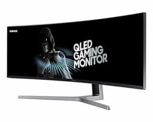 SAMSUNG C49HG90, Ecran PC Gaming Incurvé, Ultra-Large incurvé 1800R, Dalle VA 49″, Résolution Double Full HD (3,840 x 1,080), 144 Hz, 1ms, QLED, AMD FreeSync 2, Noir