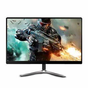 YILANJUN HD Moniteur Gaming 19″/22″/24″ Full HD (178 °, Ultra-léger et Fin, 2 ms, 1920 × 1080, 16: 9), Noir/Blanc