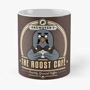 92Wear Animal Crossing Brewster Roost Cafe CAF Geek Gaming Gamer Nerd – Best 11 Ounce Ceramic Coffee Mug Gift