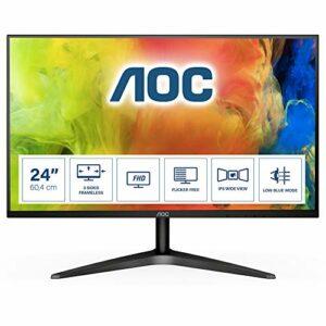 AOC Écran gamer 24B1XH 60,4cm (23,8 pouces) (VGA, HDMI, temps de réponse de 5ms, 60Hz, 1920×1080) noir