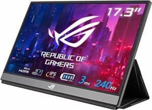 ASUS ROG XG16AHPE-W – Ecran PC gaming portable 15,6″ FHD Blanc- Dalle IPS – 16:9 – 144Hz – 3ms – 1920×1080 – 300cd/m² – 2x USB-C et 1x Micro HDMI – Batterie – Haut-parleurs – Compatible G-Sync