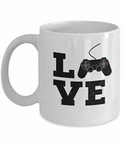 Mug vintage avec manette de jeu vidéo pour café et thé