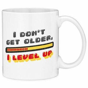 NA e ne vieillis Pas, Je Monte de Niveau Jeu vidéo Tasse à café drôle Tasse en céramique Blanche