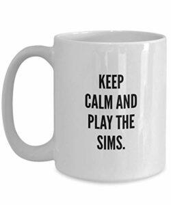 NA Jeux vidéo Joke Coffee Mug 11OZ Funny Ceramic Novelty Tea Cup – Unique Quote Gift Idea for Gamer Birthday Anniversary Kids | Blanc