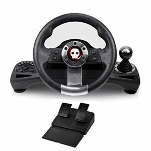 Nsk gaming Volant Pro avec Levier de Vitesse + Pédalier – Compatible PS4 / PS3 / PC/Xbox One et Xbox Serie