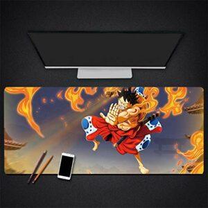 One Piece Grand Tapis de Souris de Jeu avec Revers en Caoutchouc antidérapant – pour Gamer, Bureau et Maison 800 * 300 * 3mm-A_700*300 * 3MM