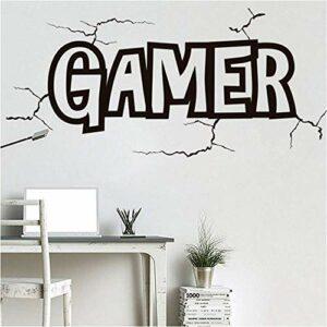Stickers Muraux 122 Cm * 57 Cm Jeu Stickers Muraux Gamer Stickers Muraux Décor Gaming Play Room Art Mural Vidéo Gamer Enfants Chambre Décor À La Maison