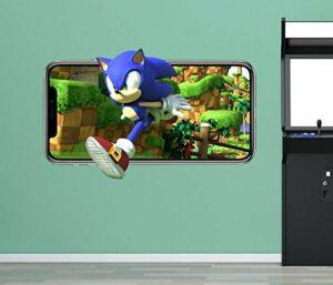 stickers muraux chambre Sticker mural autocollant de jeu vidéo mobile décoration vinyle mural chambre d'enfants 3d Autocollants muraux 50 * 70CM