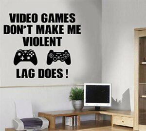 Stickers Muraux Decal Gaming Boy Salle De Jeux Jeux Vidéos Ne Me Faites Pas De Citations Violentes Chambre À Coucher