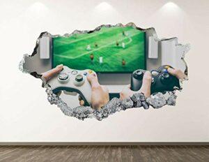 Stickers Muraux Gaming Controller Autocollants Mural 3D Look Animaux Pour Chambre Enfant Décoration Murale 20x27inch(50x70cm)