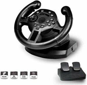 Volant de course Lilis pour PC Gaming Racing Wheel, manette de jeu compatible avec PS3 / PC simulé contrôleur Driving Vibration, Steering