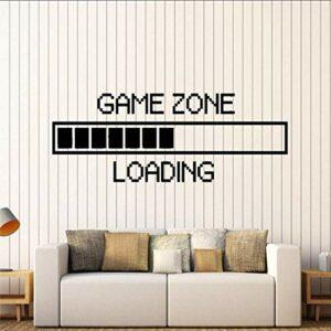 Zone De Jeu Ordinateur Gaming Stickers Muraux Vinyle Sticker Mural Décor Chargement Jeu Vidéo Mur Tatouage Amovible Papier Peint Taille 43 * 114 Cm