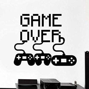 Autocollant Jeu Vidéo Jouer Autocollant Gamers Affiches Gamer Vinyle Stickers Muraux Parede Décor Mural 19 Couleur Choisir Jeu Vidéo St 49 * 58 cm