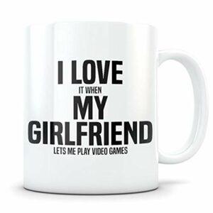 Cadeau de jeu vidéo, tasse de jeu vidéo, cadeau de joueur, tasse de joueur, petit ami, jeu vidéo cadeau pour hommes, cadeau de jeu, tasse de jeu, I Love My gf