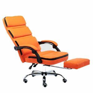 Chaise de Jeu Chaise de Course Ordinateur Chaise de Jeu vidéo Ergonomique Dossier et siège réglable en Hauteur inclinable Chaise (Color : Orange, Size : 65 * 65 * 120cm)