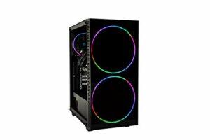 CoolBox DeepGaming Antrax-L V2 Ordinateur de Jeu de Bureau (Intel Core i3-9100F, 16 Go de RAM, 240 Go SSD + 1 to HDD, Nvidia GTX1650 4 Go GDDR5, sans système d'exploitation) Noir