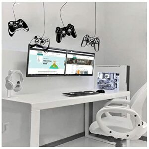 D'Autocollants Stickers Muraux Amovibles PVC Contrôleur De Jeu Sticker Mural Salle De Jeux Vidéo Gaming Gamer Decal Child Room Home Decor 54X110cm