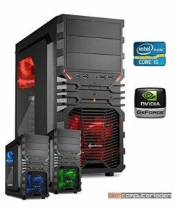dercomputerladen Gamer PC System Intel, i5-4460 4×3,2 GHz – i5 4460 avec nVidia GTX 950 2 Go, avec 8 Go de RAM et 1 000 Go de disque dur
