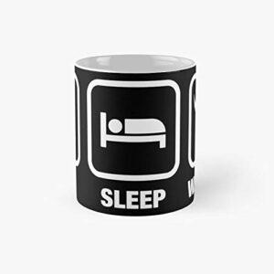 Eat Sleep Waaagh Orks Warhammer 40k Inspired – Gaming Classic Mug Best Gift Funny Coffee Mugs 11 Oz