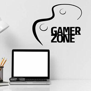 Gamer Zone – Stickers muraux en vinyle pour garçons et filles – Pour chambre d'enfant, maison, salon, chambre à coucher, décoration simple et personnalisable, 55,9 x 55,9 cm
