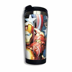 Jeu vidéo Avenger Tasse D'eau Doublure Isolée En Acier Inoxydable Tasse À Café Sport Voyage Tasse Rotative Base Boucle Couverture CUP-2056
