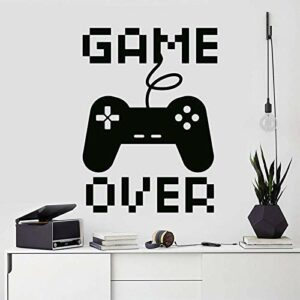 Jeu vidéo Decal Gamer Wall Sticker Game Over Decal Gamer Decor Controller Gaming Decal Gift pour garçon autocollant Gamer A 42X58Cm
