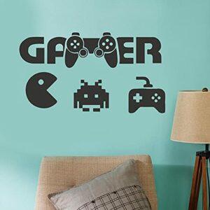 JJJee Bizarre de Manger des Jeux, des Autocollants muraux Non Plastiques Gamer Bizarre pour Manger des Autocollants de Jeu